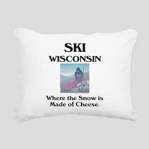 skiwisconsincap2 Rectangular Canvas Pillow