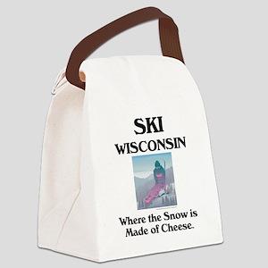 skiwisconsincap2 Canvas Lunch Bag