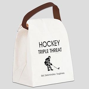 TOP Ice Hockey Slogan Canvas Lunch Bag