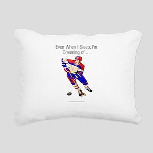 hockeydreamingbumper Rectangular Canvas Pillow