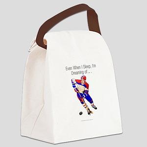 hockeydreamingbumper Canvas Lunch Bag