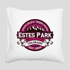 Estes Park Raspberry Square Canvas Pillow