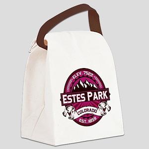 Estes Park Raspberry Canvas Lunch Bag