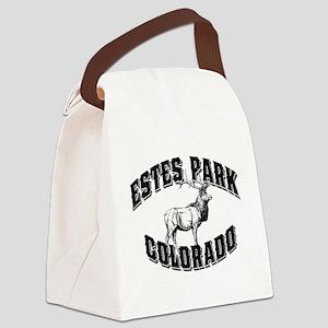 Estes Park Elk For Lights Canvas Lunch Bag