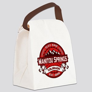 Manitou Shirt Logo Red Canvas Lunch Bag