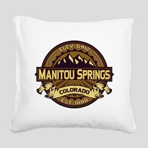 Manitou Shirt Logo Sepia Square Canvas Pillow