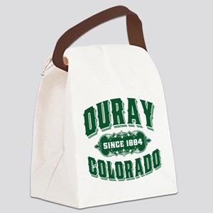 Ouray Old Style Green Canvas Lunch Bag