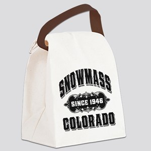 Snowmass Since 1946 Black Canvas Lunch Bag