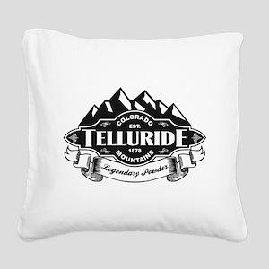 Telluride Mountain Emblem Square Canvas Pillow