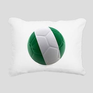 Nigeria World Cup Ball Rectangular Canvas Pillow