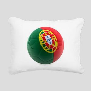 Portugal World Cup Ball Rectangular Canvas Pillow