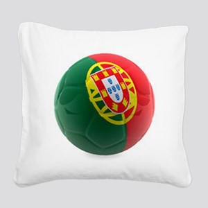 Portugal World Cup Ball Square Canvas Pillow