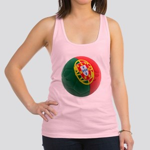 Portugal World Cup Ball Racerback Tank Top