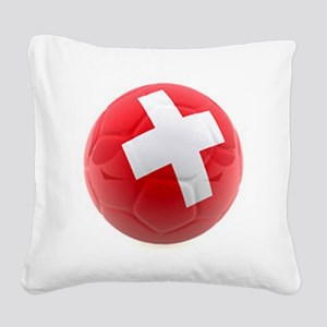 Switzerland World Cup Ball Square Canvas Pillow