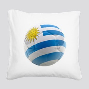 Uruguay World Cup Ball Square Canvas Pillow