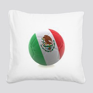 Mexico World Cup Ball Square Canvas Pillow