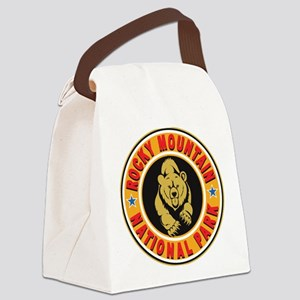 Rocky Mountain Gold Circle Canvas Lunch Bag