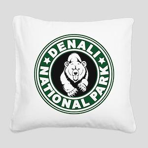 Denali Green Circle Square Canvas Pillow