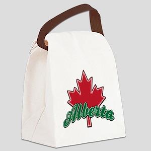 Alberta Maple Leaf Canvas Lunch Bag
