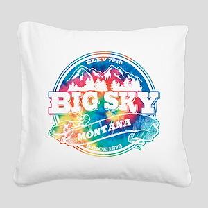 Big Sky Old Circle Black Square Canvas Pillow