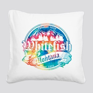 Whitefish Old Canterbury Square Canvas Pillow