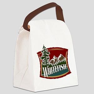 Whitefish Lake Mountain Canvas Lunch Bag