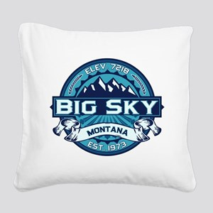 Big Sky Ice Square Canvas Pillow
