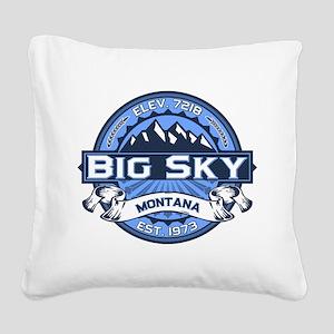 Big Sky Blue Square Canvas Pillow