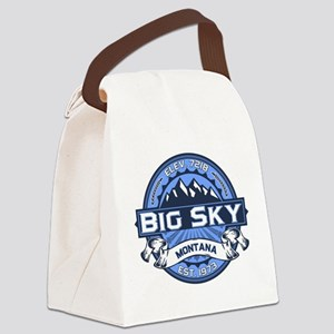 Big Sky Blue Canvas Lunch Bag