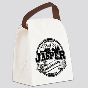 Jasper Old Circle Black Canvas Lunch Bag