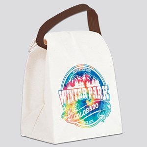 Winter Park Old Circle Black Canvas Lunch Bag
