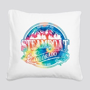 Steamboat Old Circle 3 Square Canvas Pillow
