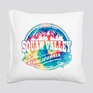 Squaw Valley Old Circle Black Square Canvas Pi