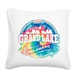 Grand Lake Old Circle Square Canvas Pillow