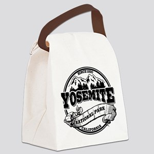 Yosemite Old Circle Black Canvas Lunch Bag
