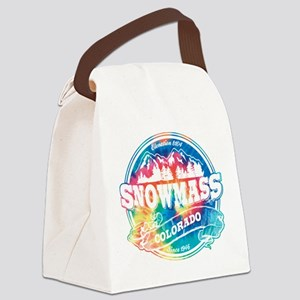 Snowmass Old Circle Black Canvas Lunch Bag