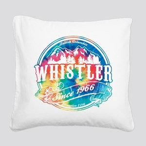 Whistler Old Circle Black Square Canvas Pillow