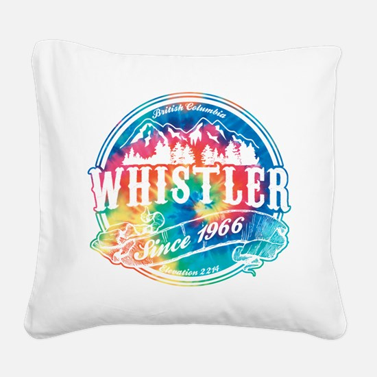 Whistler Old Circle Black.png Square Canvas Pillow