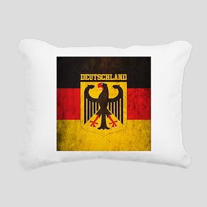 Grunge Germany Flag Rectangular Canvas Pillow