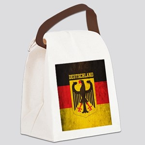 Grunge Germany Flag Canvas Lunch Bag