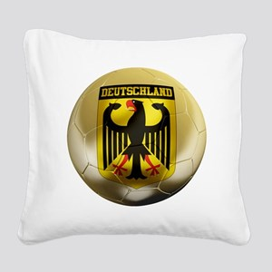 Deutschland Football Square Canvas Pillow