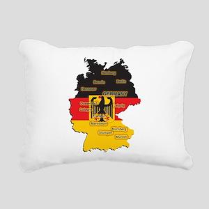 Germany Map Rectangular Canvas Pillow
