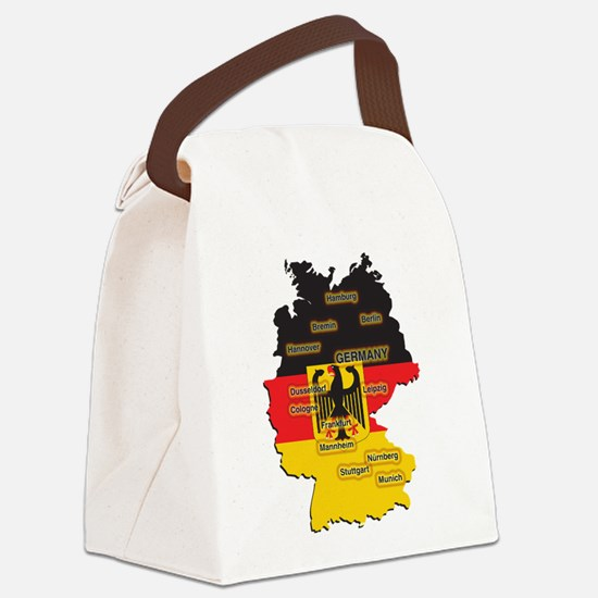 Germany Map Canvas Lunch Bag