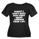 Dont Date (Squat) Women's Plus Size Scoop Neck Dar