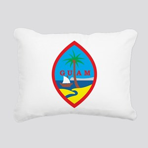 Guam Coat Of Arms Rectangular Canvas Pillow