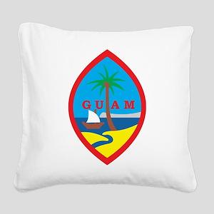 Guam Coat Of Arms Square Canvas Pillow