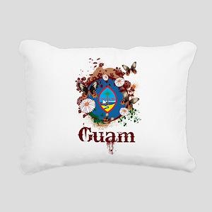 Butterfly Guam Rectangular Canvas Pillow