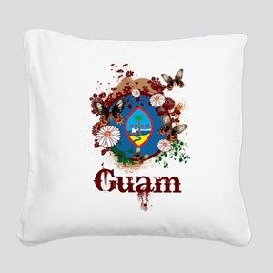 Butterfly Guam Square Canvas Pillow