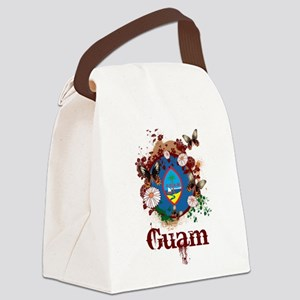 Butterfly Guam Canvas Lunch Bag