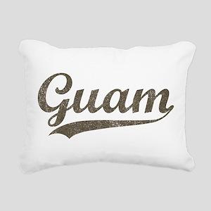 Vintage Guam Rectangular Canvas Pillow